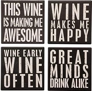 Best stone wine coasters Reviews