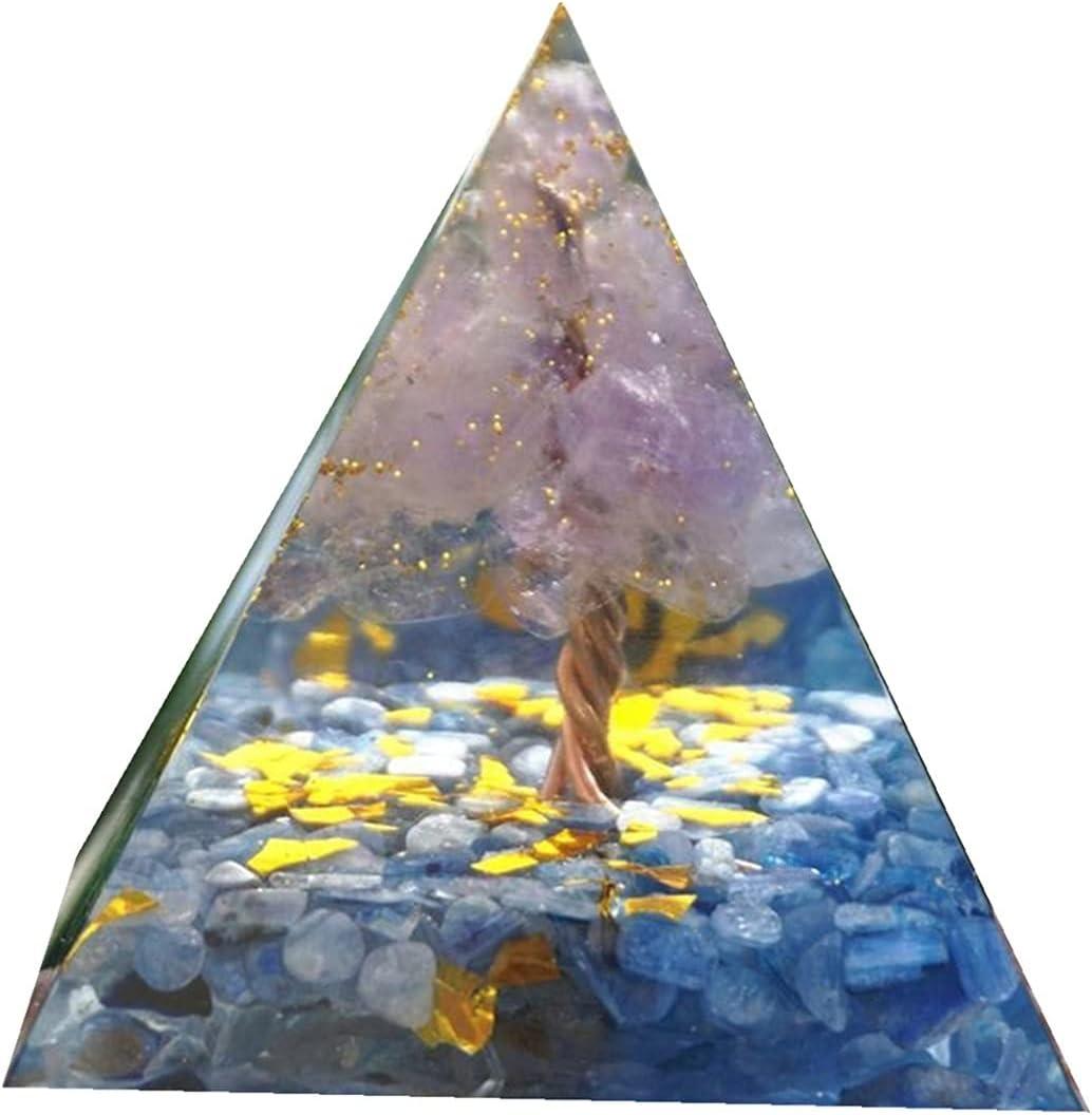 IAMLIUYU Long-awaited Orgonite Pyramid Tree of Life Light Amethyst Time sale Crystal wi