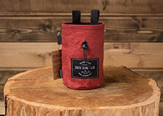 STATIC Waxed Canvas Chalk Bag (Oxblood) Made in the USA
