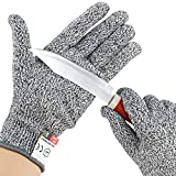 Cut Resistant Gloves for Kitchen - Food Grade Level 5 Protection, Medium 1 Pair