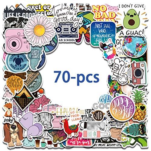 (70PCS) Vsco Waterbottle / Cute / Teen / Waterproof / Vinyl / Aesthetic Stickers for Water Bottle, Laptop, Mac-Book, Computer, bagages enfants filles enfants.