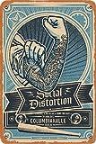 OSONA Social Distortion Columbiahalle Retro Nostalgic Art Traditional Rust Color Tin Logo Advertising Striking Wall Decoration Gift