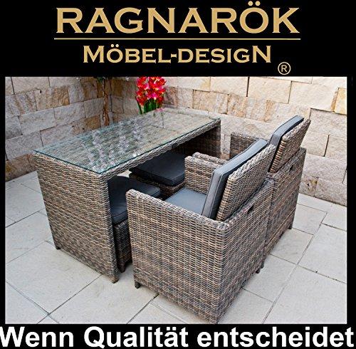 Garten Möbel Essgruppe Tisch Stühle Hocker kaufen  Bild 1*
