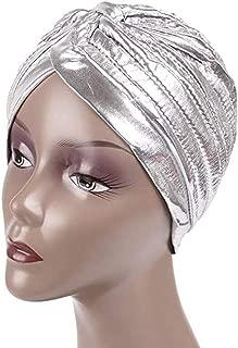 Vimoisa Unisex Metallic Turban Hat Headwrap Chemo Cap Indian Hat Yoga Cap