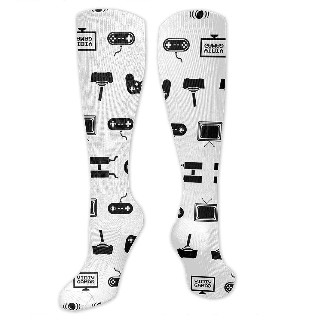 狂った病気のキャリッジ靴下,ストッキング,野生のジョーカー,実際,秋の本質,冬必須,サマーウェア&RBXAA Video Games Socks Women's Winter Cotton Long Tube Socks Knee High Graduated Compression Socks