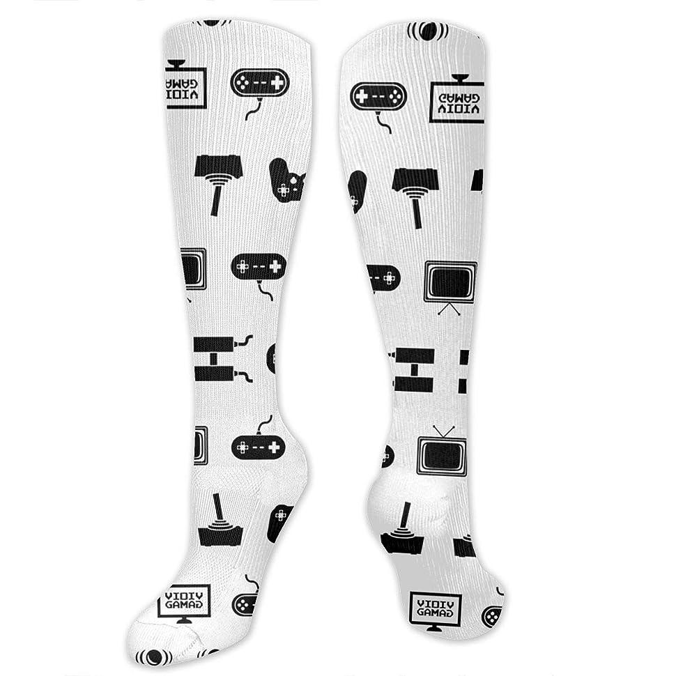 大学九時四十五分しばしば靴下,ストッキング,野生のジョーカー,実際,秋の本質,冬必須,サマーウェア&RBXAA Video Games Socks Women's Winter Cotton Long Tube Socks Knee High Graduated Compression Socks