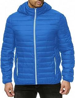 IZHH Parka Jacket Men Down Coat Zip Hoodie Sweatshirt Puffer Sherpa Winter Coats