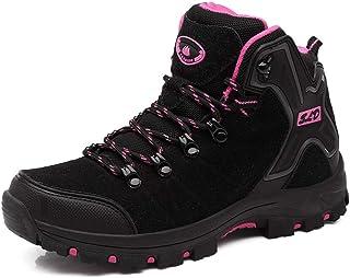 FEOZYZ Womens Hiking Boots Trekking Shoes Anti-Collision mid Heel Non-Slip Climbing Boots