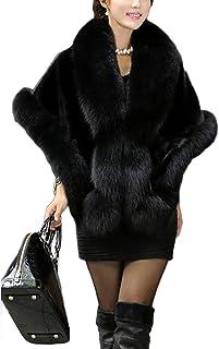 a045c707c10e9 YACUN Manteau en fourrure synthétique de fourrure de manteau de femmes pour  des étoles de mariage