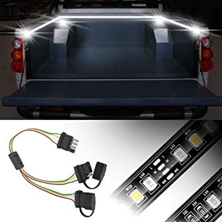 Universal 4 Way Flat Y-Splitter Plug with Play Adapter, GES Adapter Extension Harness for LED Tailgate Light Bar and Trailer Lights
