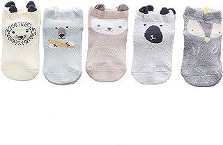 Smart Buyers 09 - Juego de 5 calcetines para bebé para niños y niñas (0-36 meses)