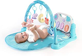 Lucky Doug Baby Play Gym, Kit & Play Piano Activity Play Center Baby Educational Toys, Lay to Sit-Up Play Gym Gift for Newborn Boys and Girls 0-12-36 Months