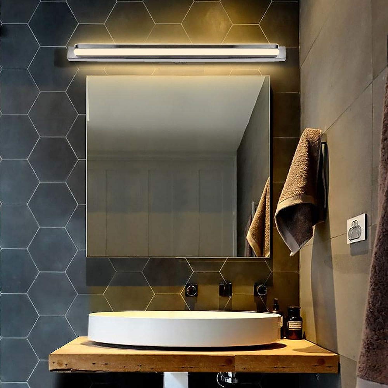 Badezimmer Wasserdichte Spiegel Frontleuchte Edelstahl Wandleuchte Make- Up Lichter, 52 Cm   20,4 Zoll, Warmwei