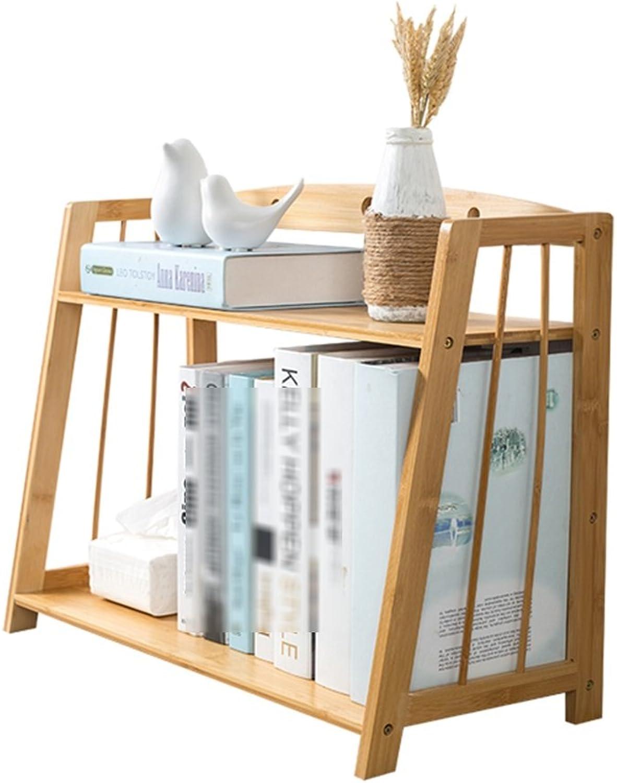 Shelves Desktop Book Storage Box, Solid Wood Bookshelf Office Finishing Rack, Desk Storage Rack Finishing Rack