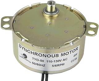 CHANCS TYD-50 Synchronous Motor Turn Table 110V AC 5-6RPM CCW Flush Shaft 5.5mm Small Gear Motor