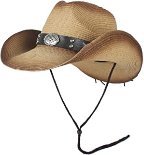 Sun Hat for men and women New Fashion Western Cowboy Hats Men Summer Straw Cowgirl Party Costume Crimping Western Hat Sombrero Hombre Cowboy Hats Panama Hat For Men