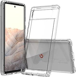 honju FIT Clear Case compatibel met Google Pixel 6 Case [Ultra Clear Case, anti-vergeling, krasbestendig, TPU frame + kras...