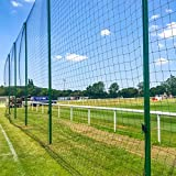 Removable Alu80 Ball Stop System Posts [3 Sizes] | Aluminium Post for Ball Stop Netting | Single Post Only | Fence Post for Multi-Sport Ball Stop System (12ft (3.7m))
