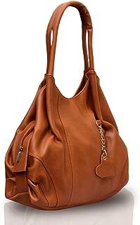 Fostelo Women's Style Diva Handbag (Tan) (FSB-396)