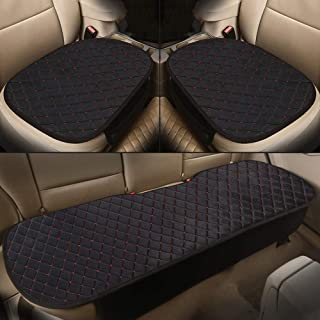 Car Seat Cover Set Polyester Automotive Accessories Chair Protector for Pickup SUV Truck Auto Protection Seat Cushions 3Pcs Black