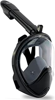 Vaincre 180° Full Face Snorkel Mask with Panoramic View Anti-Fog, Anti-Leak with Adjustable Head Straps - See Larger Viewing Area Than Traditional Masks
