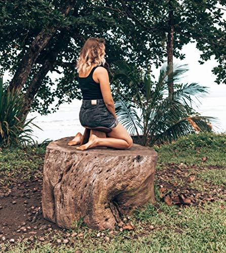 BLUECONY Ikuko Original Meditation Bench, Travel Version, Wooden Kneeling Ergonomic Seiza - Dark Walnut, Low Height (6