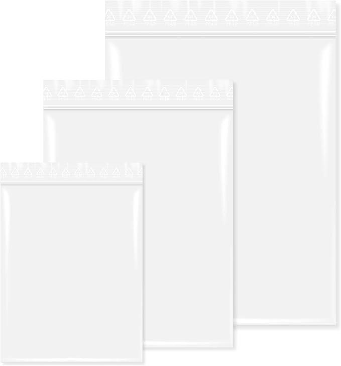 300 St/ück Druckverschlu/ßbeutel in 150x220 mm 90 m/µ Transparent Lebensmittelgeeignet unbedruckt
