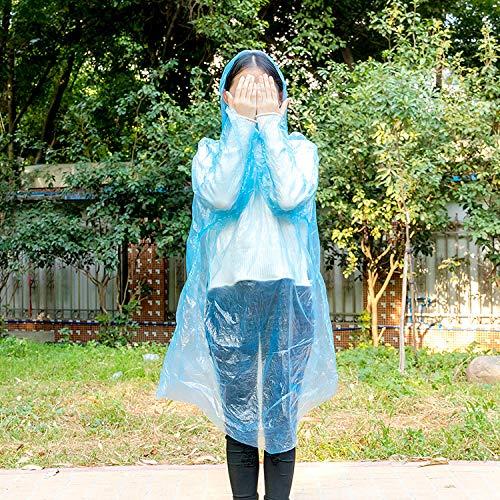 Regenjassen met pet voor buiten reizen,Draagbare wegwerp transparante regenjas, drijvende poncho voor dames en heren-20,Regenjassen voor volwassenen,