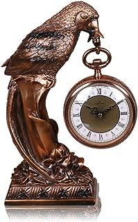 CLOCKZHJI Desk Clock and Shelf Clock Mantel/Mantle Rhythm Quartz Clock Eagle Living Room Desk Shelf Clocks Decoration