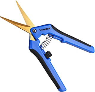 VIVOSUN 1-Pack Gardening Hand Pruner Pruning Shear with Titanium Coated Curved Precision Blades