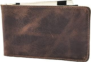 Hide & Drink, Rustic Leather Golf Performance Scorecard Holder Handmade :: Bourbon Brown
