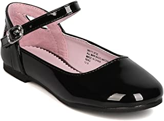 Sponsored Ad - Girls Patent Leatherette Ankle Strap Cut Out Ballet Flat GB38