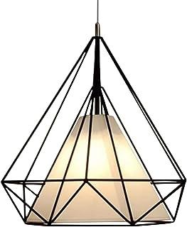 Mifive Luz Moderna Colgante Jaula De Hierro Ara?a Negra Lámpara Led Vintage Colgante E27 Ara?a Industrial Desesván Comedor Restaurante Bar Mostrador