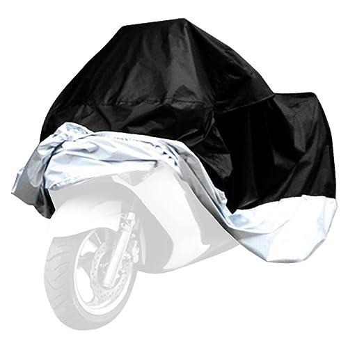 Noir 245x105x125cm Vanhom Housse Moto Impermeable Housse Protection Moto Exterieur Interieur Protection Reservoir Moto Anti-UV en Polyester 190T pour Moto Scooter