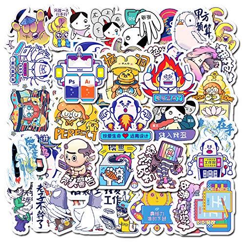 XIAMU Net-A-Porter Fun Emoji Bag Equipaje Laptop Phone Casco Skateboard Handbook Sticker 53 Piezas