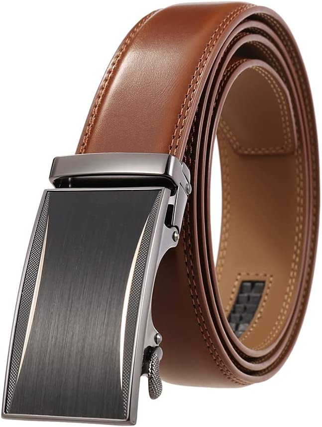 FENXIXI Alloy Sales mart Automatic Buckle Belt for Black Men Brown Men's Le