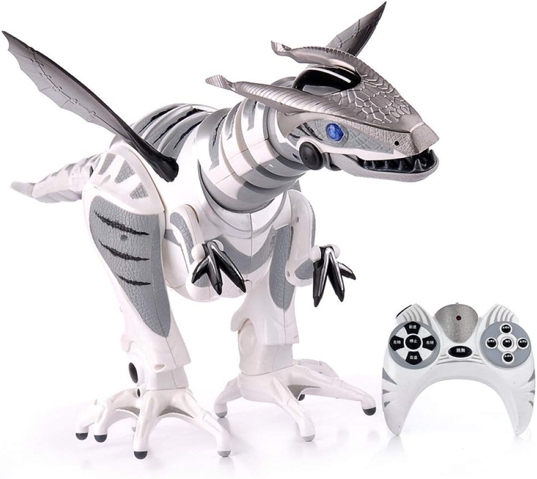 SJHFDICKJFIF Intelligente Dinosaurier Robot Spielzeug,Kinderspielzeug,Multi-Funktions FerngesteuerterTanzen Musik,mit Sound Und Gehfunktion-77  28  17.5cm 30.3  11  6.9inches,Weiß B07M7VKFKR Haltbarkeit   | Mittlere Kosten