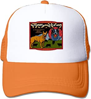 WYF Men&women Australian Cattle Dog - A Rancher's Best Friend Outdoor Hip Hop Travelling Cotton Mesh Hat Adjustable