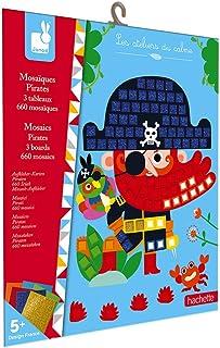 Janod - Coffret Mosaïques en Mousse Pirates - Les Ateliers du Calme - Kit Loisir Créatif Enfant - Apprentissage Motricité ...