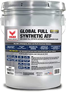 Triax Global Synthetic ATF - OEM Grade Compatible with Allison TES 295, BMW, Audi, Mercedes Benz, VW, Honda, Toyota, Nissan, Chrysler +4, Ford Mercon V/LV, Dexron VI, Nissan, ZF 6HP