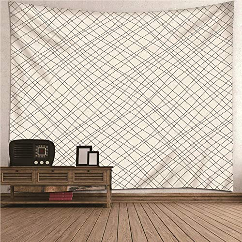Aimsie Tapiz de pared minimalista con temática cruzada, decoración de pared para habitación de niña, poliéster, color gris, 240 x 220 cm