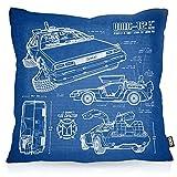 VOID DMC-12 Blaupause Kissenbezug Kissenhülle Outdoor Indoor Zukunft, Kissen Größe:50 x 50 cm