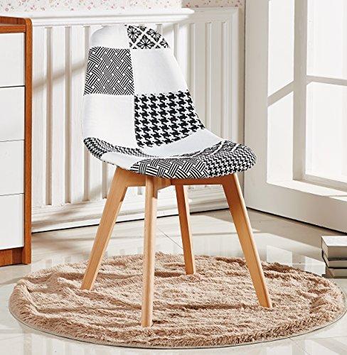 P&N Homewares® Silla o silla de baño estilo nórdico escandinavo (silla pequeña)