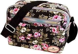 Flyme Sale Clearance Women Handbags Halijack Ladies Vintage Printing Canvas Messenger Bag College Girl Casual Travel Purse Cosmetic Bag Summer Beach Bag Small Shoulder Bag Crossbody Bag Black