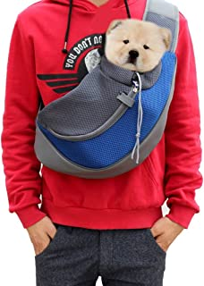 Lily's Pet Sling Carrier- Soft Mesh Hands Free Sling Bag Head Out for Puppy Cat Rabbit Guinea Pig- Single Shoulder Carrier Pet Travel Carrier Pouch- for Pets up to 6.6-13.2lb