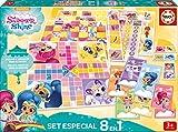 Educa Borrás- Shimmer&Shine Pack 8 Juegos Reunidos Shimmer and Shine Mesa (17718)
