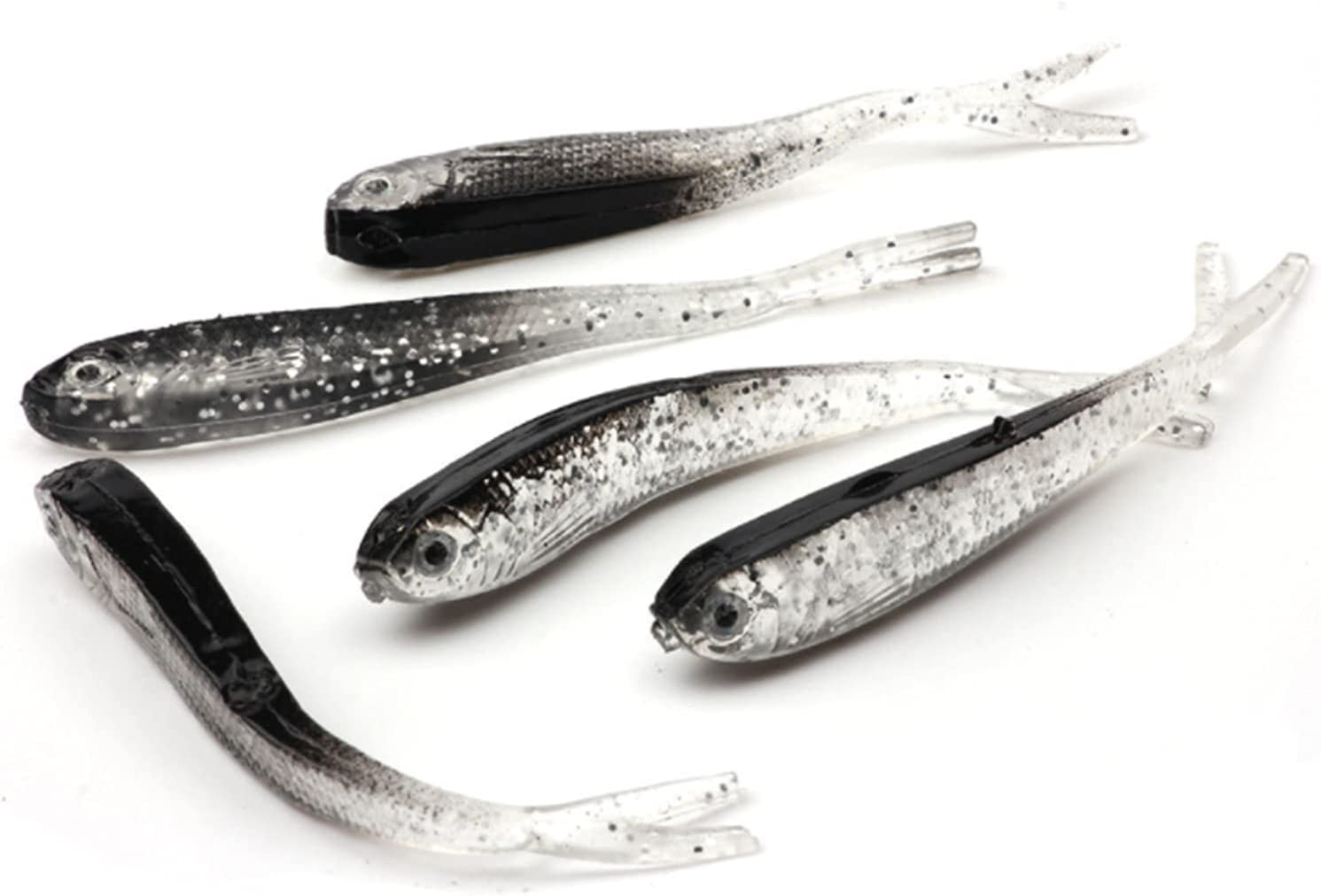 Cafurty 10Pcs Fishing Soft Plastic Crappie Special Inexpensive sale item Lures Lure So Minnow