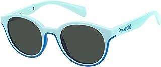Polaroid - Gafas de Sol Polaroid PLD 8040/S KIDS Light Blue/Grey 44/19/125 unisex niños