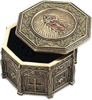 Jewels By Lux Madonna Holding Baby Jesus Octagonal Rosary Box