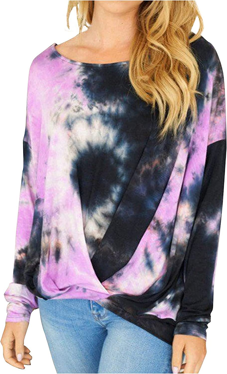 Women's Autumn And Winter Long Sleeve Printed Round Neck Loose Sweater T-Shirt Top